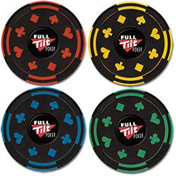 The Gambler Poker Chip Coasters