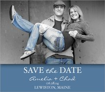 "Save The Date Rectangle Magnets, 4"" x 3.5"""