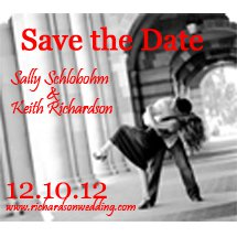 Save The Date Magnets, Die-Cut 4 x 3-1/2
