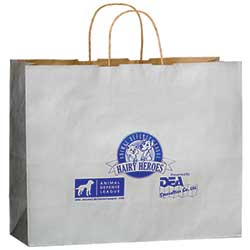 "Paper Shopping Bags, Colored Matte, Foil Stamp, 16"" x 13"""