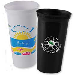 200 Custom Recycled Stadium Cups, Smooth 32 oz.