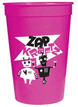 250 Custom 16 oz. Smooth Pink Stadium Cups