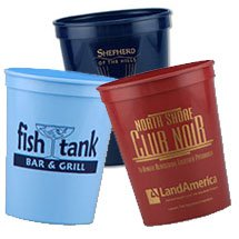100 Custom Stadium Cups, Colored, Smooth 16 oz.