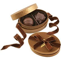 Premium Belgian Chocolate Truffles, Bronze 2 Piece Box