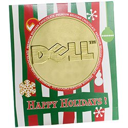 Belgian Chocolate Coins, Holiday Sleeve