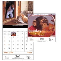 Humorous Calendars, Monkey Mischief - 12 Month