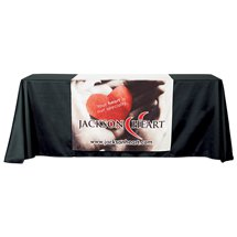 "82"" x 36"" Premium Full Color Polyester Table Runners"