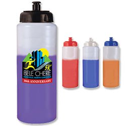 BPA Free Bike Bottles, Mood, Full Color Digital 32 oz.