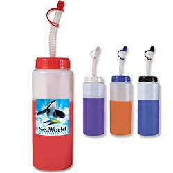 BPA Free Sports Bottles, Mood, Full Color 32 oz.