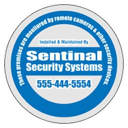 "Security Decals, 3"" Dia. Circle, Clear Polyester"