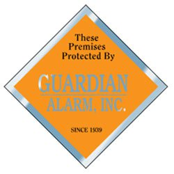 "Security Decals, 3"" x 3"" Diamond, Clear Polyester"