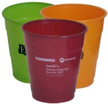Plastic Cups, Colored 12 oz.