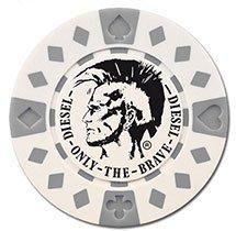 100 Custom 11.5 Gram ABS Composite Poker Chips - Diamond Design (Foil Stamp)