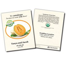 Save the Date Wedding Organic Cantaloupe Seed Packets
