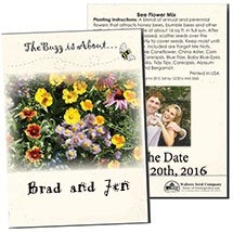 Save the Date Wedding Annual Cut Flower Seed Packets
