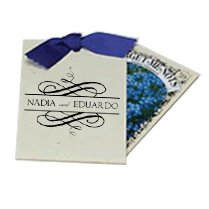 Wedding Forget-Me-Nots Seed Packets, in Recycled Envelopes