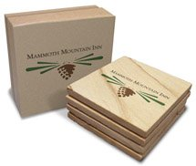 "4"" x 4"" Absorbent Natural Sandstone Coasters - Boxed Set of 4"