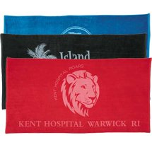 "Medium Weight Colored Beach Towels, 30"" x 60"""