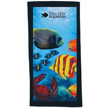 "Fiber Reactive Fish Beach Towels, 30"" x 60"""