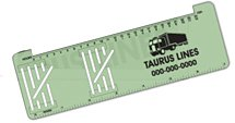 Trucker Logbook Ruler with Columns / Green Surface Color