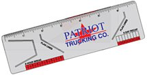 Trucker Logbook Ruler with Flag