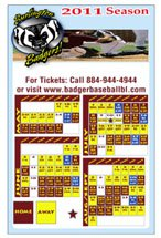 "Sports Schedule Magnets, 5-1/2"" x 8-1/2"" Square Corners"