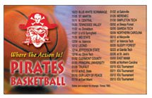 "Sports Schedule Magnets, 3-1/2"" x 5-5/8"" Square Corners"