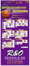 Professional Basketball Sports Schedule Magnets