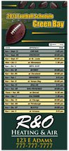 Professional Football Sports Schedule Magnets