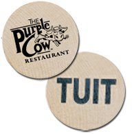 Wooden Nickels with TUIT Stock Design