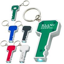 Key Shape LED Light Up Key Chains