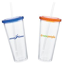 20 oz. Spirit Clear Acrylic Tumbler with Straw