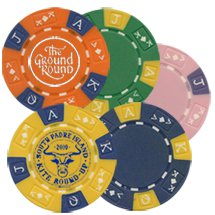 Ace King Poker Chip Magnets (Foil Stamp)
