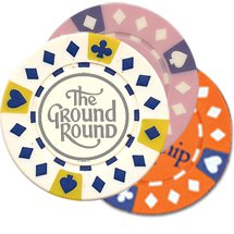 Diamond Suited Poker Chip Magnets (Foil Stamp)