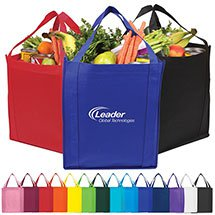"13"" x 10"" Saturn Jumbo Nonwoven Grocery Totes"