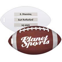 Recycled Plastic Football Luggage Tags