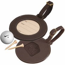 Leeman Woodbury Leather Golf Bag Tags