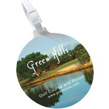 Economy Golf Bag Tags with Full Color Imprint
