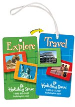 Lenticular Flip Image Luggage Tags with Stock Backgrounds