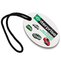 Recycled Paperboard Full Color Oval Luggage Tags