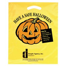 Pumpkin Yellow Die Cut Plastic Bags