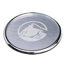 Chrome Cosburn Brushed Aluminum Coasters (Engraved)