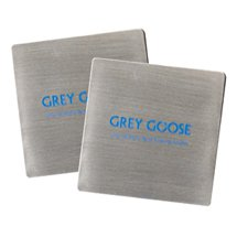 50 Custom Stainless Steel Square Beverage Coasters