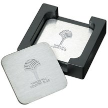 The Throw Stainless Steel 6-Piece Coaster Sets
