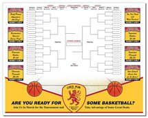 Full Color Basketball Bracket Paper Placemats