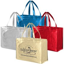 Metallic Designer Laminated Totes