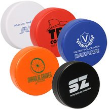 Hockey Puck Stress Balls - Colors