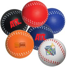 Baseballl Stress Balls - Colors