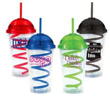16 oz. Super Dome Tumbler with Curly Q Straw