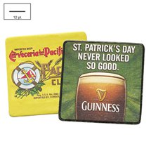 "Disposable Full Color Pulpboard Coasters, 12 pt., 3.5"" Square"